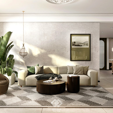 百平米空间设计,打造三口之家简单的快乐_1627026952_4492843