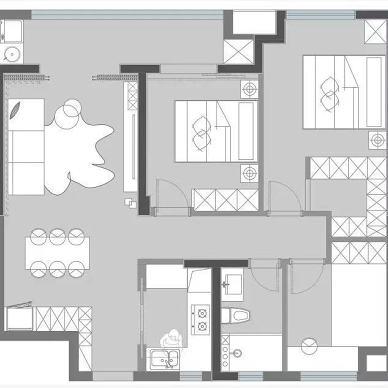 105m²三居:家,是真正释放自我的地方_1630480148_4526220
