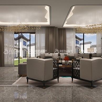 480平米别墅现代中式风格装修案例_1633750456_4555869